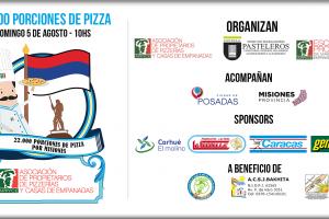 Más de 2750 pizzas, 800 kilos de muzarella y 700 kilos de harina para un récord solidario