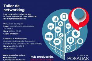 Se realizará un taller de Networking para emprendedores en Posadas