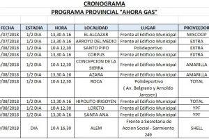 El Ahora Gas estará esta semana en varios puntos de Misiones