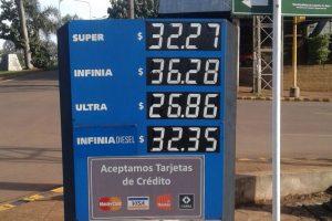 La nafta premium ya cuesta 36,28 pesos en Posadas