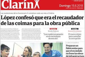Las tapas de los diarios del domingo: Las revelaciones de López y las perspectivas sombrías de la economía