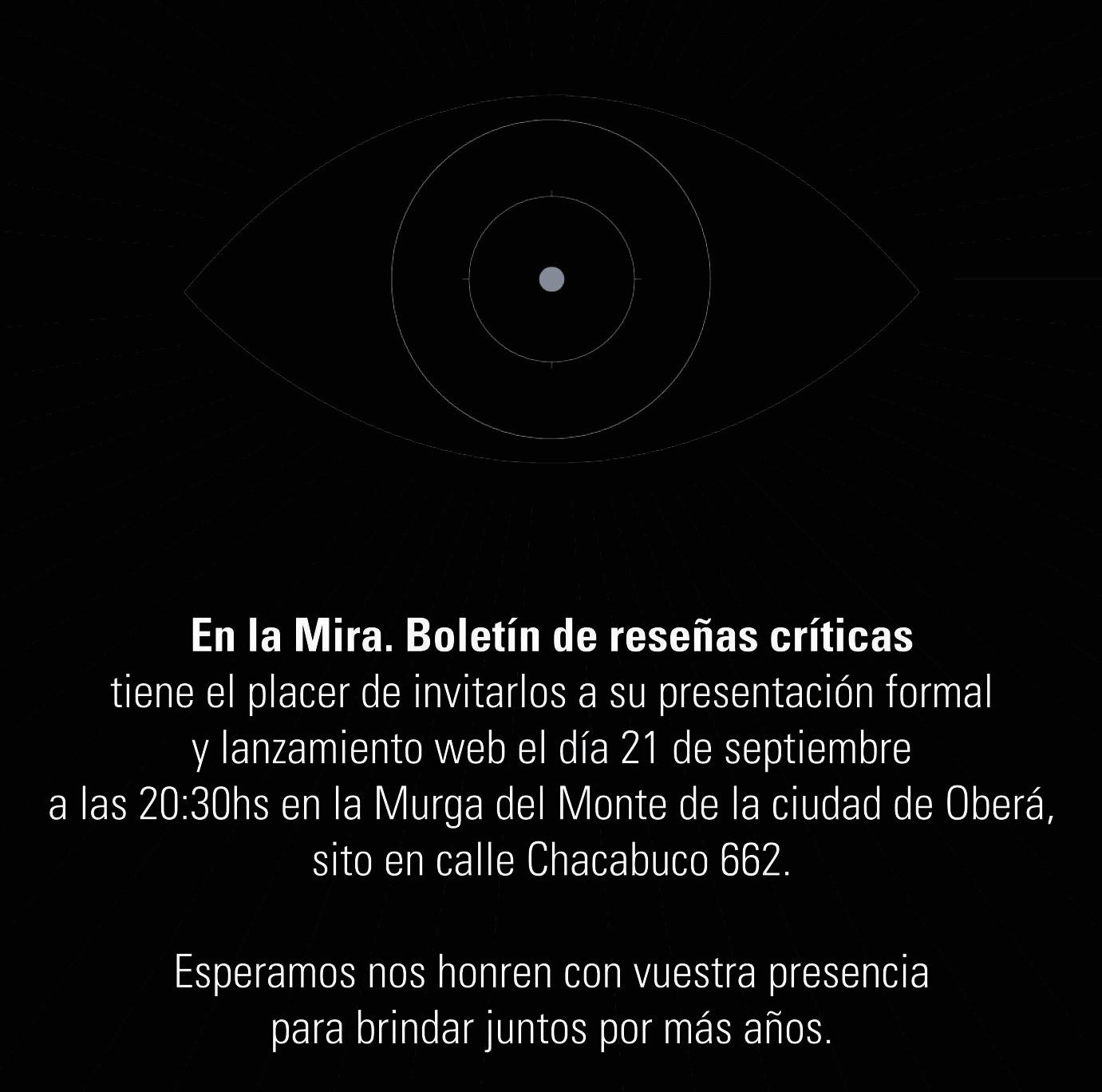 Presentarán «En la Mira» el próximo viernes en la Murga del Monte
