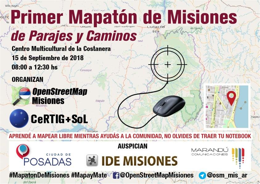 Realizarán la primer Mapatón de Misiones, «de Parajes y Caminos»