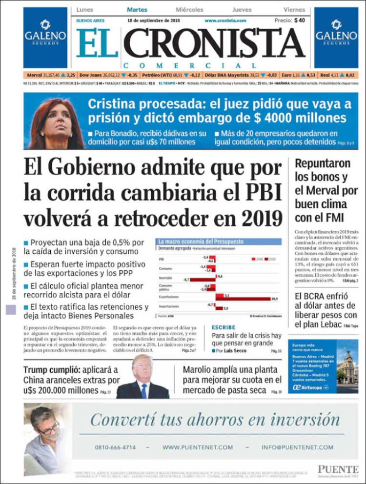 Las tapas del martes 18/9: El presupuesto, Cristina y el FMI
