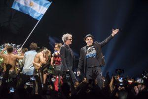 Zeta Bosio y Charly Alberti participaron de la despedida de «Sep7imo Día, No descansaré»