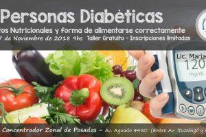 Dictarán taller sobre los aspectos nutricionales de las personas diabéticas en el Mercado Concentrador de Posadas