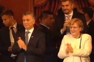 G20: el llanto de Macri al finalizar el espectáculo en el Teatro Colón