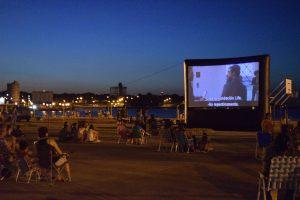 Comenzó el ciclo de cine gigante en las arenas de El Brete