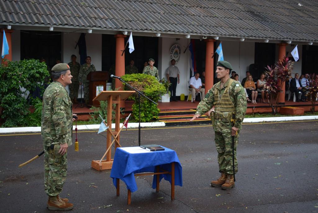 El Coronel Aldo Daniel Ferrari asumió como nuevo jefe de la Brigada de Monte XII