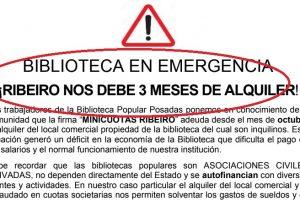 La biblioteca más importante de Misiones podría cerrar porque la cadena de electrodomésticos Ribeiro no paga el alquiler