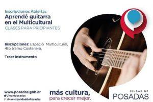 El municipio brindará talleres gratuitos de guitarra en el Multicultural a partir de marzo