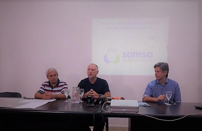 El problema del agua: Samsa explicó que los cortes del servicio son por fallas en un caño maestro, en el suministro eléctrico y las conexiones clandestinas