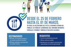 Desde el próximo 25 de febrero se podrán retirar los módulos del programa «Nutrificarte» del IPS