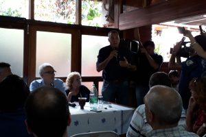 Norberto Aguirre, intendente de Eldorado, quien apoyó y ayudó a la convocatoria y gestionó la reunión con Passalacqua.