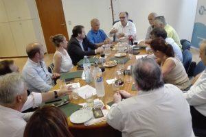 Arce participó la reunión de COSSPRA y con autoridades del hospital Italiano