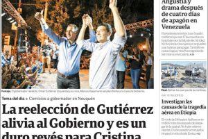 Las tapas del lunes: La peculiar lectura de Clarín sobre lo que sucedió en Neuquén y una curiosa omisión en tapa de La Nación