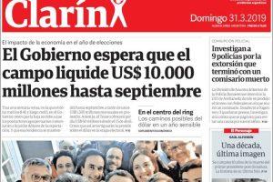 Las tapas del domingo: Clarín y La Nación destacan que el Gobierno le «prende una vela» a los dólares del campo