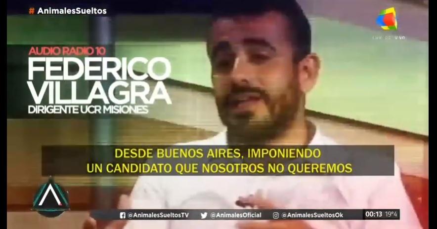 Federico Villagra: «Desde Buenos Aires nos quieren imponer un candidato»