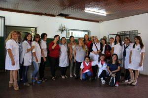 La Ministra Ivonne Aquino visitó escuelas en el día de presentación de los docentes