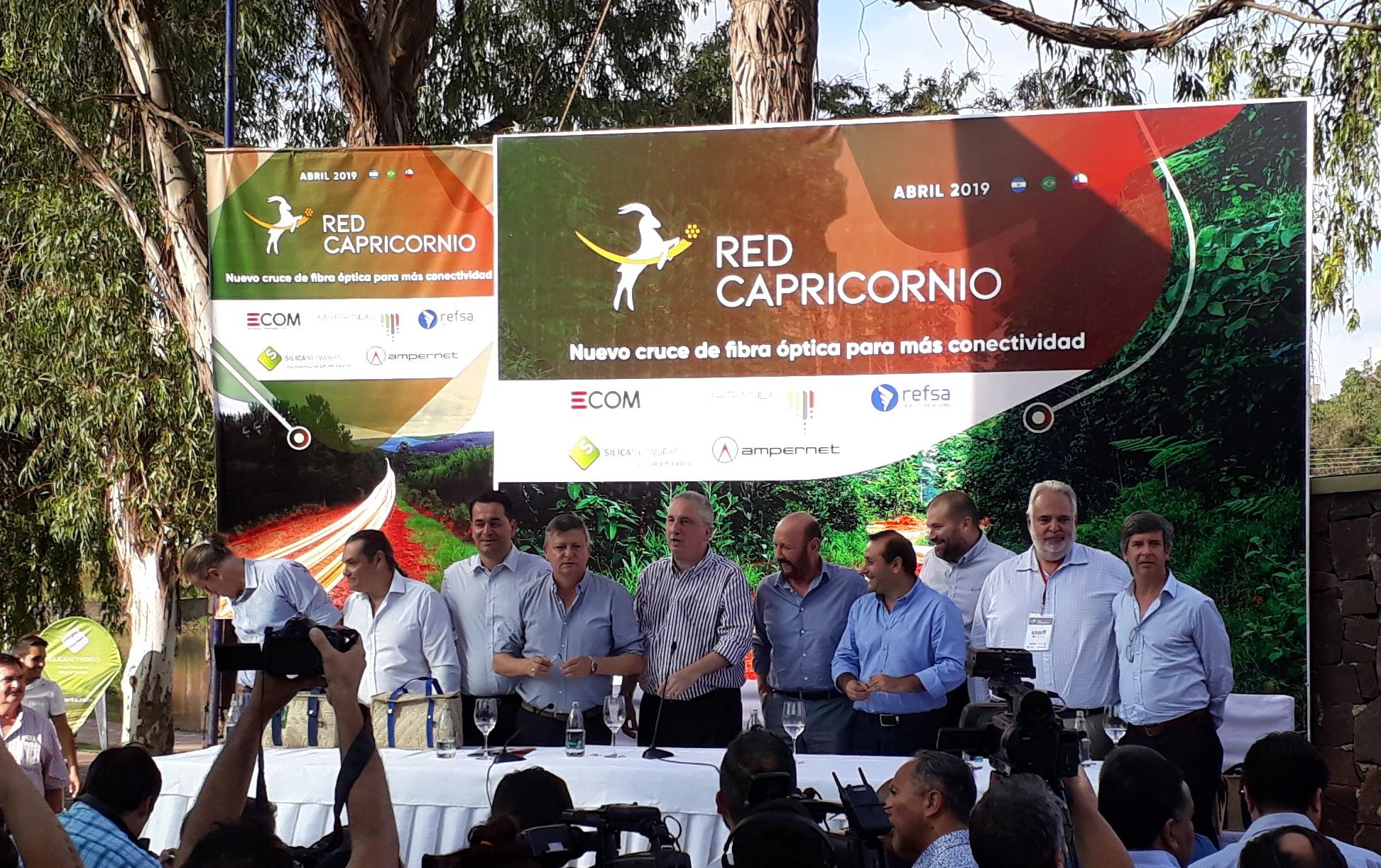 La presentación de la Red Capricornio el lunes. Con Hugo Passalacqua y sus pares de Chaco, Domingo Peppo, y Gildo Insfrán, de Formosa.