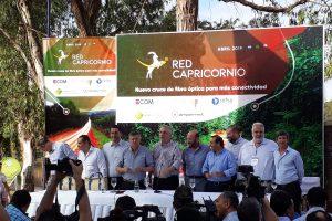 Passalacqua, Peppo e Insfrán inaguraron la red Capricornio y mandaron un mensaje a la Capital y a las telcos: «No todo pasa por Buenos Aires»
