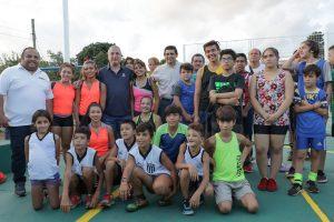 Passalacqua inauguró el playón deportivo del barrio «15 de agosto» de Posadas