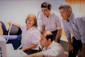 Losada y Herrera pusieron en funcionamiento un Centro de Ecografía en el CAPS municipal del barrio Latinoamérica