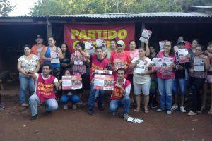 El Partido Obrero realiza actos y reuniones en toda la provincia