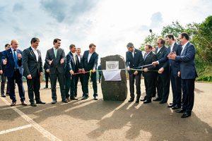 Bolsonaro y Abdo Bénitez pusieron la primera piedra para el nuevo puente en la triple frontera