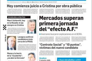 Las tapas de los diarios del martes 21 de mayo: El comienzo del juicio oral contra Cristina Kirchner