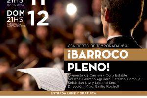 Este fin de semana: Concierto de Temporada Nº 4, música barroca a pleno