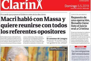 Las tapas del domingo 5 de mayo: Todos los análisis y detalles sobre el Consenso que propone Macri