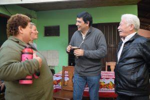 Losada visitó a los vecinos de las chacras 32-33, 120 y Villa Sarita