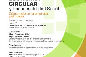 Capacitarán sobre sustentabilidad y economía circular en Posadas