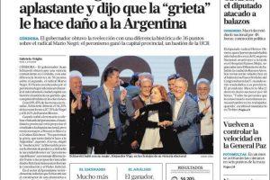 Las tapas del lunes 13 de mayo: La contundente victoria de Schiaretti en Córdoba y el fiasco Vélez-Boca