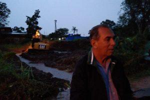 Stelatto supervisó obras para evitar que las lluvias vuelvan a afectar la escuela 122 de Posadas