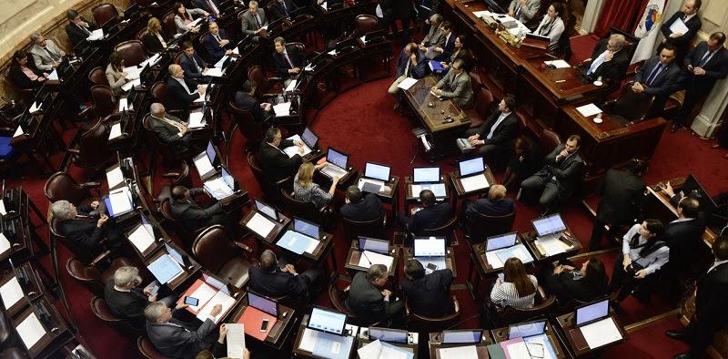 16-04 Sesión especial del senado por el tratamiento de la ley de financiamiento político. Foto: Andrés D'Elia