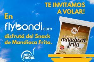 Empresa misionera alimentará con snack de mandioca a los pasajeros de Fly Bondi