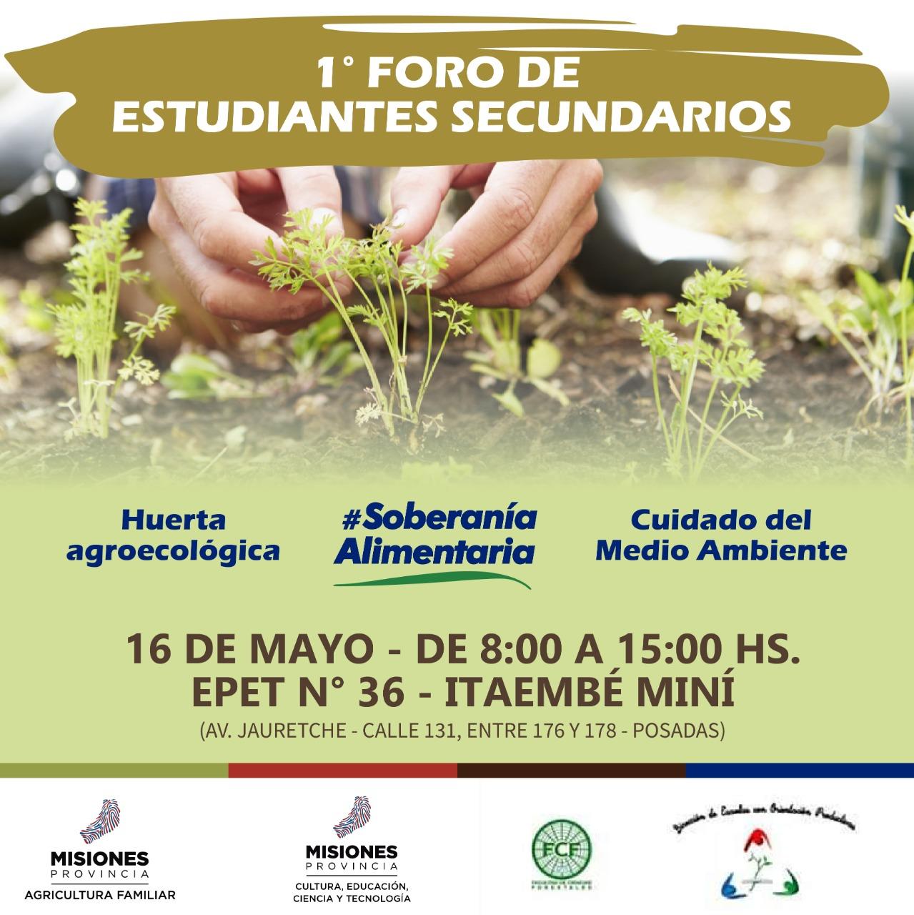 Se realizará el primer foro provincial de huertas agroecológicas
