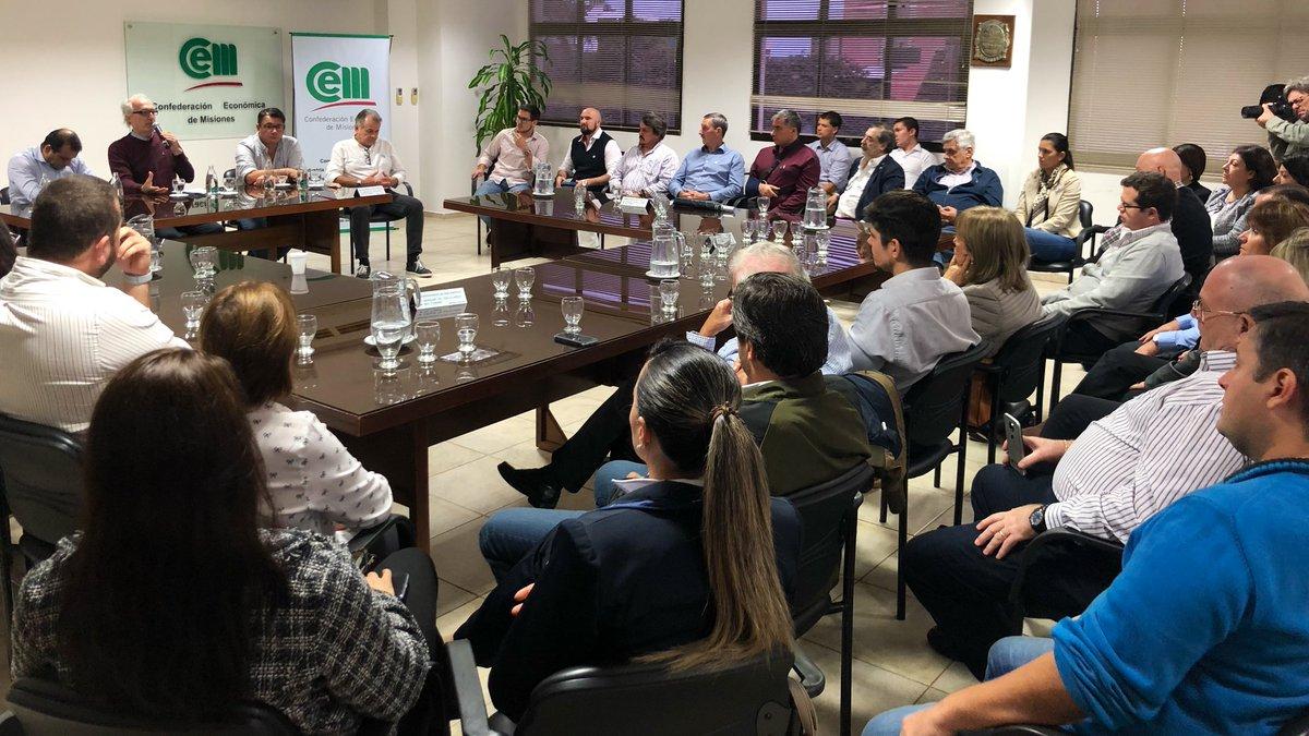 Herrera Ahuad se reunió con la CEM y ratificó el respaldo de la Provincia a sostener la actividad económica