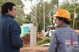 Presupuesto Participativo: Avanzan las obras del playón deportivo del barrio Jardín