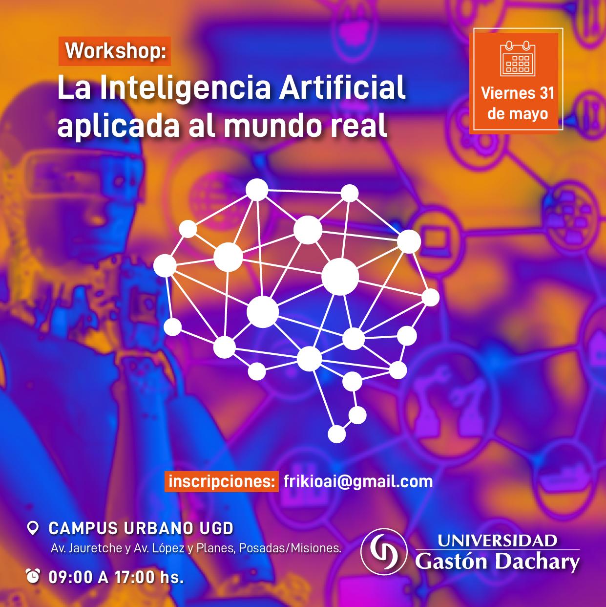 La UGD realizará un workshop llamado «La inteligencia artificial aplicada al mundo real»