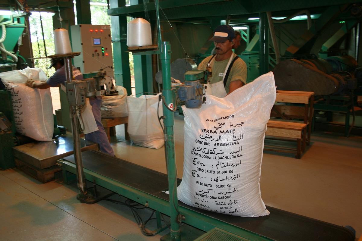 Las exportaciones de yerba mate aumentaron un 16,1% su valor de comercialización