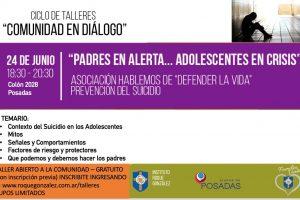 El lunes se dictará una charla para la prevención del suicidio adolescente en el Instituto Roque González