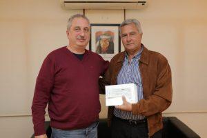 Passalacqua entregó subsidios para la recuperación del patrimonio histórico en Concepción de la Sierra