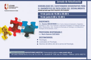 Jornada de actualización en psicología en la UCAMI