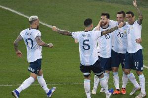 Sin brillar pero mostrando todo su poderío, Argentina está en semifinales