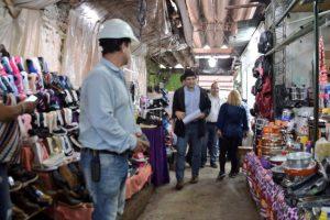 Presupuesto Participativo: Losada supervisó las obras de puesta en valor del Mercado Modelo La Placita