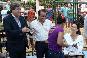 Michetti inauguró obras en Aristóbulo del Valle