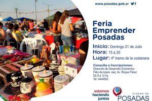 El próximo domingo se realizará una nueva edición de la Feria «Emprender Posadas»